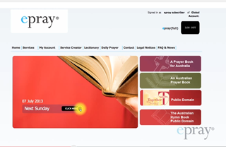 epray - Using Sunday Services